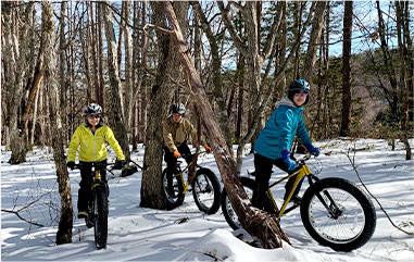 雪上ファットバイクツアー